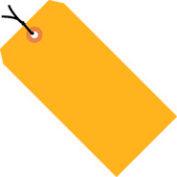 "#8 Orange Fluorescent Strung Tag Pack 6-1/4"" x 3-1/8"" - 1000 Pack"