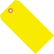 """#6 Yellow Fluorescent Tag Pack 5-1/4"""" x 2-5/8"""" - 1000 Pack"""