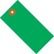 "#5 Green Tyvek Tag 4-3/4"" x 2-3/8"" - 100 Pack"