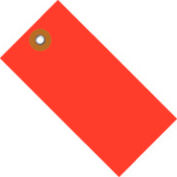 "#5 Red Tyvek Tag 4-3/4"" x 2-3/8"" - 100 Pack"