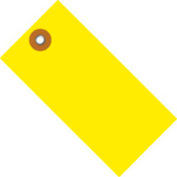 """#5 Yellow Tyvek Tag 4-3/4"""" x 2-3/8"""" - 100 Pack"""