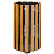 """Mount Receptacle With Surface Ground Post, Cedar, 34 gal, 18""""Dia x 41""""H"""