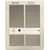 TPI Fan Forced Wall Heaters With Summer Fan Switch HF3316TSRP - 4000/3000/2000/1500W 240/208V Ivory