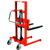 "HAMACO Hydraulic Stacker HFH-H200-9 - Step Type - 440 Lb. Capacity - 35.4"" Lift"