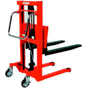 "HAMACO Hydraulic Stacker HFH-H400-12 - Step Type - 881 Lb. Capacity - 47.2"" Lift"