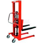 "HAMACO Hydraulic Stacker HFH-H600-12 - Step Type - 1322 Lb. Capacity - 47.2"" Lift"