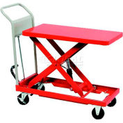 "HAMACO Standard Work Cart with Scissor Lift HLH-120, 28.3""L x 15.7""W Table, 264 Lb. Capacity"
