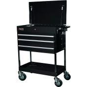 "Homak BK05500200 34-1/2"" Professional 3 Drawer Black Service Cart"