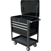 "Homak 35"" Professional 4 Drawer Service Cart - Black"