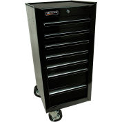 "Homak 17"" 7 Drawer Side Cabinet - Black"