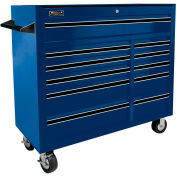 "Homak 41"" PRO SERIES 11 Drawer Rolling Cabinet - Blue"