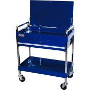 "Homak BL05500190 32"" Professional 1 Drawer Blue Service Cart"