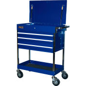 "Homak BL05500200 34-1/2"" Professional 3 Drawer Blue Service Cart"