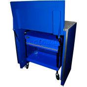 """Homak 46"""" Service Cart Locker - Blue"""