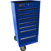 "Homak 17"" 7 Drawer Side Cabinet - Blue"