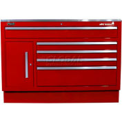"Homak 46"" CTS Small Door 5 Drawer Base - Burgundy"