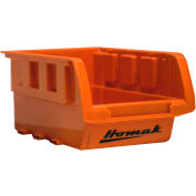 "Homak Single Small Plastic Individual Bin HA01010643, 4-1/8""W x 6-1/2""D x 3""H, Orange"