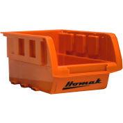 """Homak Single Small Plastic Individual Bin HA01010643, 4-1/8""""W x 6-1/2""""D x 3""""H, Orange"""