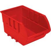 "Homak Single Small Plastic Individual Bin HA01010644 No Logo, 4-1/8""W x 6-1/2""D x 3""H, Red"