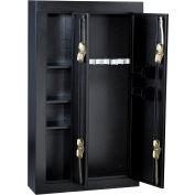 """Homak 8-Gun Double Door Steel Security Gun Safe HS30136028 - 32"""" x 10"""" x 57"""", Black"""