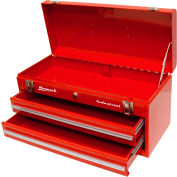 "Homak Red 20"" 2 Drawer Friction Toolbox"