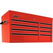 "Homak 41"" PRO SERIES 8 Drawer Top Chest - Red"