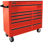 "Homak 41"" PRO SERIES 11 Drawer Rolling Cabinet - Red"