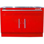 "Homak 60"" CTS 2 Door 1 Drawer Base - Red"