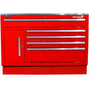 "Homak 60"" CTS 11 Drawer Base - Red"