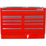 """Homak 60"""" CTS Double Bank Drawers Base - Red"""