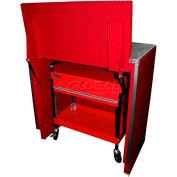 """Homak 46"""" Service Cart Locker - Red"""
