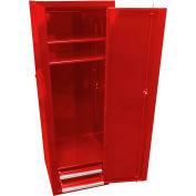"""Homak 18"""" Full-Height Side Locker w/ 2 Drawers - Red"""
