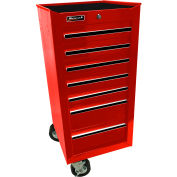 "Homak 17"" 7 Drawer Side Cabinet - Red"