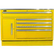 "Homak 46"" CTS 11 Drawer Base - Yellow"
