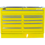 "Homak 46"" CTS Double Bank Drawers Base - Yellow"