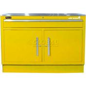 "Homak 60"" CTS 2 Door 1 Drawer Base - Yellow"