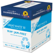 """Hammermill® Great White Recycled Copy Paper 67780, 8-1/2"""" x 11"""", White, 2500 Sheets/Ctn"""