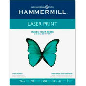 Laser Paper - Hammermill HAM104604 - White - 8-1/2 x 11 - 24 lb. - 500 Sheets/Ream