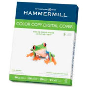 "Hammermill® Color Copy Cover Paper, 8-1/2"" x 11"", 80 lb, Ultra Smooth, White, 250 Sheets/Ream"