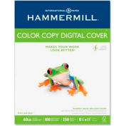 "Hammermill® Color Copy Cover Paper, 8-1/2"" x 11"", 60 lb, Ultra Smooth, White, 250 Sheets/Pack"