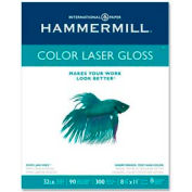 Laser Paper - Hammermill HAM163110 - Glossy White - 8-1/2 x 11 - 32 lb. - 300 Sheets/Pack