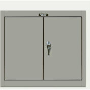 Hallowell 405-3026A-HG 400 Series Solid Door Wall Mount Storage Cabinet,30x12x26,Gray, Assembled
