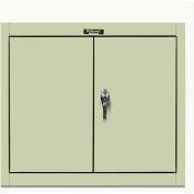 Hallowell 405-3026PT 400 Series Solid Door Wall Mount Storage Cabinet 30x12x26 Parchment Unassembled