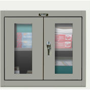 Hallowell 405-3026SV 400 Series SafetyView Door Wall Mount Storage Cabinet,30x12x26,Gray,Unassembled