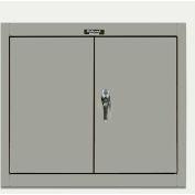 Hallowell 405-3630HG 400 Series Solid Door Wall Mount Storage Cabinet,36x12x30,Gray,Unassembled