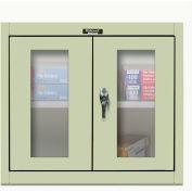 Hallowell 405-3630SV 400 Series SafetyView Wall Mount Storage Cabinet,36x12x30,Parchment,Unassembled