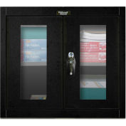 Hallowell 405-3630SVA 400 Series SafetyView Door Wall Mount Storage Cabinet,36x12x30 Ebony,Assembled