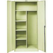 Hallowell 455C18PT 400 Series Solid Door Combination Cabinet, 36x18x72, Parchment, Unassembled