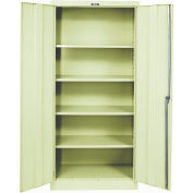 Hallowell 825S18A-PT 800 Series Solid Door Storage Cabinet, 48x18x78 Parchment, Assembled
