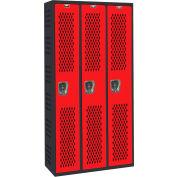Hallowell AWA282-111MR Gym/PE Locker Single Tier 36x18x72 Assembled